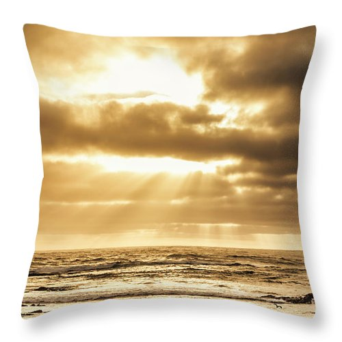 Beach Throw Pillow featuring the photograph Light Of Dusk by Jorgo Photography - Wall Art Gallery
