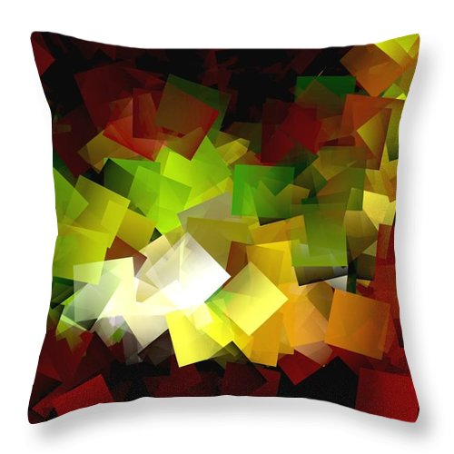 Kubic Throw Pillow featuring the digital art Light On The End Of Darkness by Helmut Rottler