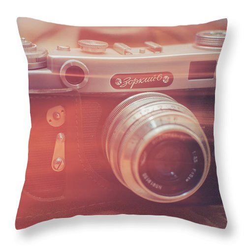 Camera Throw Pillow featuring the photograph Light by Ondrej Supitar