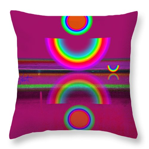 Reflections Throw Pillow featuring the painting Light Red by Charles Stuart