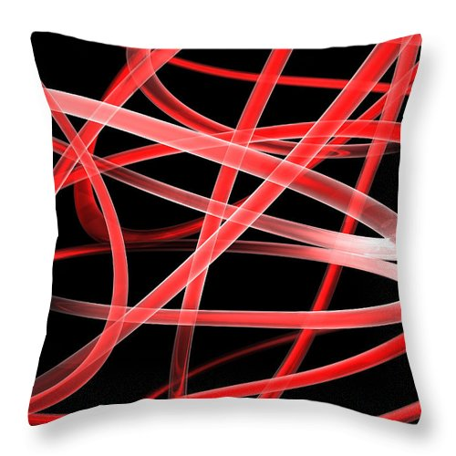 Scott Piers Throw Pillow featuring the painting Light Red by Scott Piers