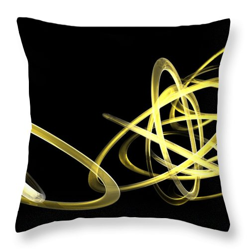 Yellow Throw Pillow featuring the photograph Light Yellow by Scott Piers