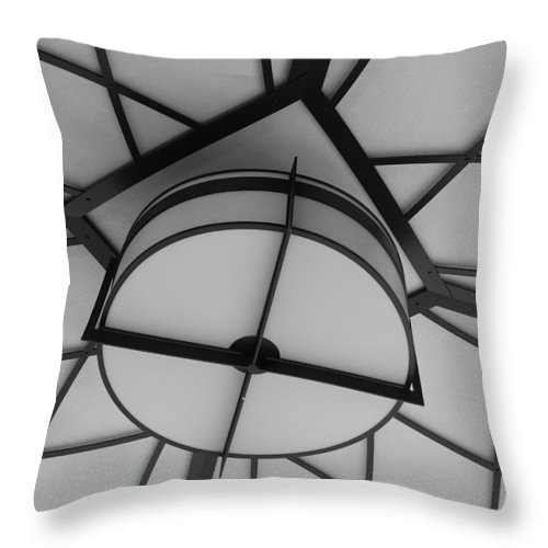 Architecture Throw Pillow featuring the photograph Lighted Box by Rob Hans