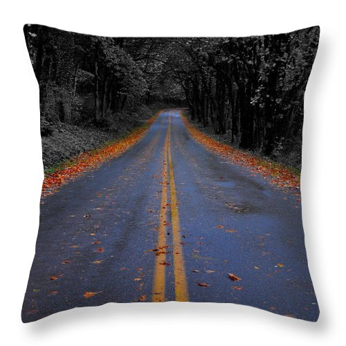 Color Isolation Throw Pillow featuring the photograph Lighter Paths by Noah Cole