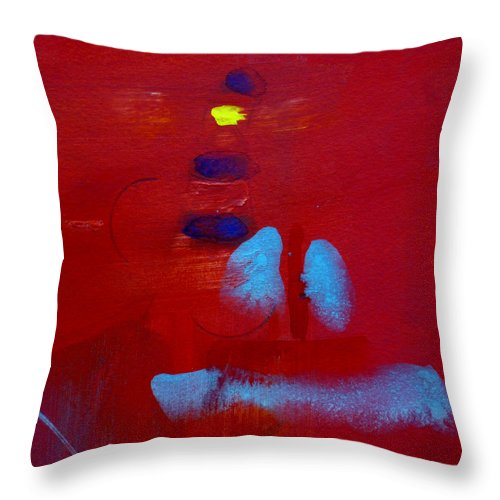 Lighthouse Throw Pillow featuring the painting Lighthouse by Charles Stuart