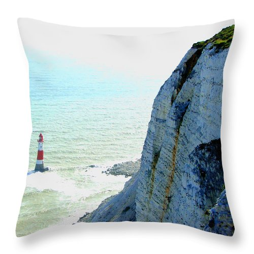 Lighthouse Throw Pillow featuring the photograph Lighthouse by Heather Lennox
