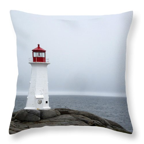 Throw Pillow featuring the photograph Lighthouse by Robyn Doig
