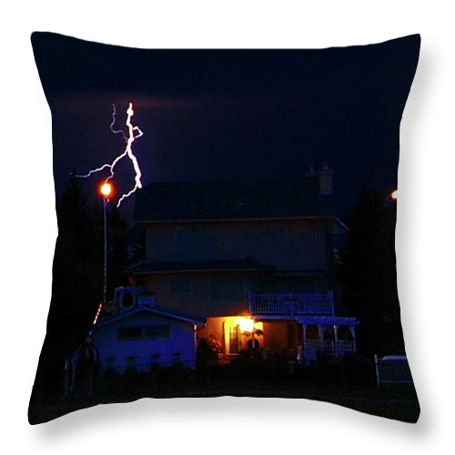 Al Bourassa Throw Pillow featuring the photograph Lightning Disco Moves by Al Bourassa