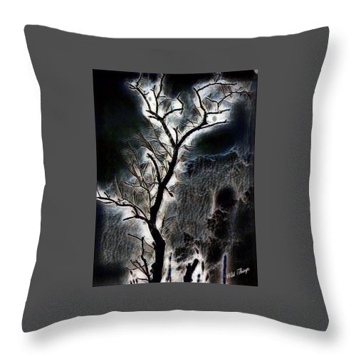 Digital Art Throw Pillow featuring the photograph Lightning Tree by Wild Thing