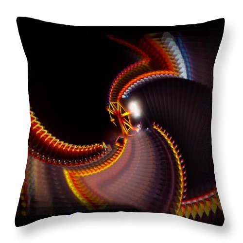 Chaos Throw Pillow featuring the painting Lightning Wheel by Charles Stuart