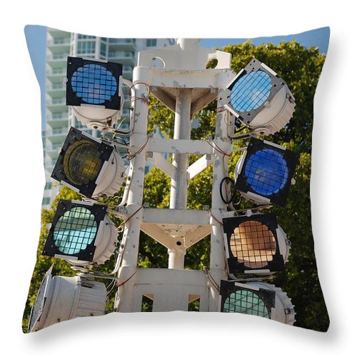 Lights Throw Pillow featuring the photograph Lights by Rob Hans