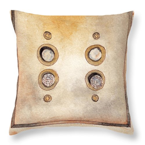 Lightswitch Throw Pillow featuring the painting Lightswitch by Ken Powers