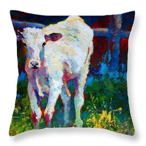 Western Throw Pillow featuring the painting Like My Daddy by Marion Rose