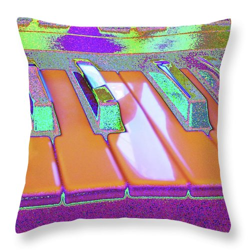 Piano Throw Pillow featuring the digital art Like You've Never Played Before by Marc Dettloff