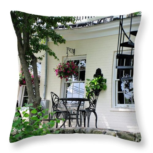 Plymouth Throw Pillow featuring the photograph Lil Italy by Calvin Jackson Jr