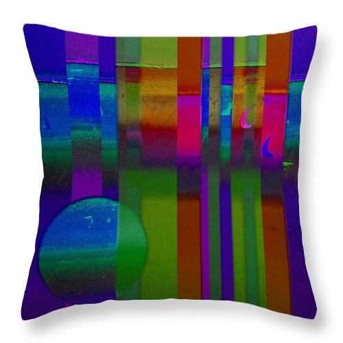 Landscape Throw Pillow featuring the painting Lilac Doors by Charles Stuart