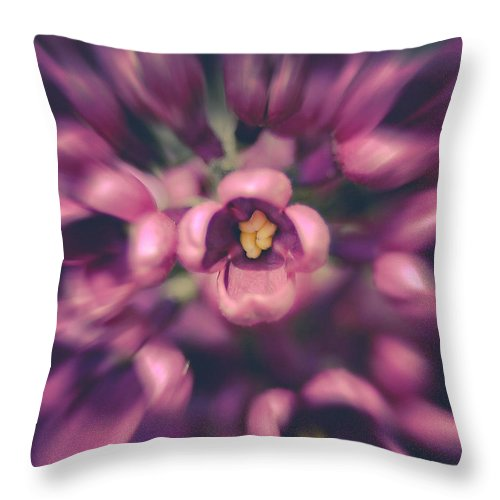 Lilacs Throw Pillow featuring the photograph Lilacs Gone Wild by Debi Bishop