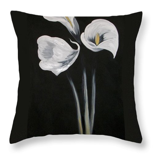 Floral Throw Pillow featuring the painting Lilies ffor Brandy by Tami Booher