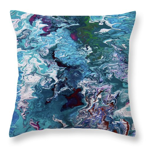 Fusionart Throw Pillow featuring the painting Lilies by Ralph White