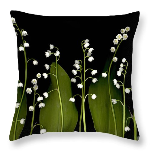 Lilies Of The Valley Throw Pillow featuring the digital art Lily Of The Valley by Sandi F Hutchins