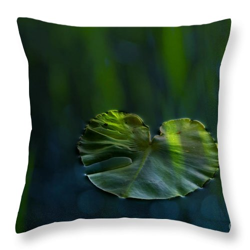 Lily Throw Pillow featuring the photograph Lily Pad by Silke Magino