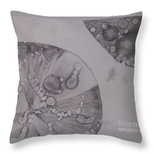 Lilypad Throw Pillow featuring the painting Lilypads by Emily Young