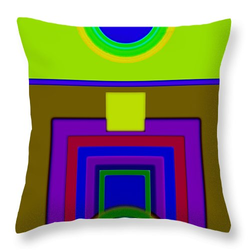 Classical Throw Pillow featuring the painting Lime Driver by Charles Stuart