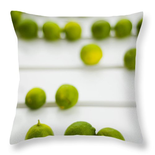 Green Throw Pillow featuring the photograph Lime Green by Skip Hunt
