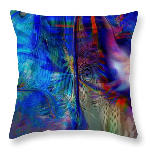 Abstract Throw Pillow featuring the digital art Limelight by Linda Sannuti