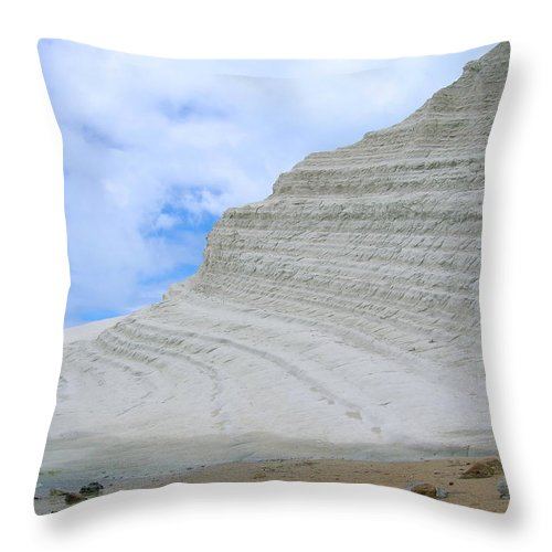 Limestone Throw Pillow featuring the photograph Limestone Cliffs by Stefania Levi