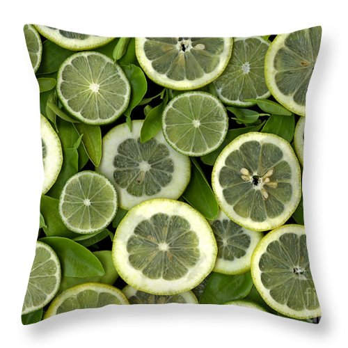 Scanography. Slanec Throw Pillow featuring the photograph Limons by Christian Slanec