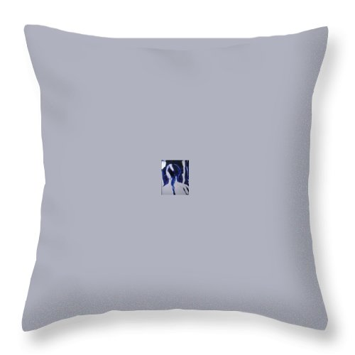 Native American Throw Pillow featuring the painting Lin Looking Forward by Judith Redman