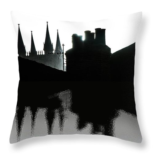 Lincoln Throw Pillow featuring the photograph Lincoln Chimneys by Naomi Tebbs