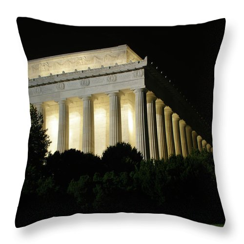 Throw Pillow featuring the photograph Lincoln Memorial by Darren Edwards