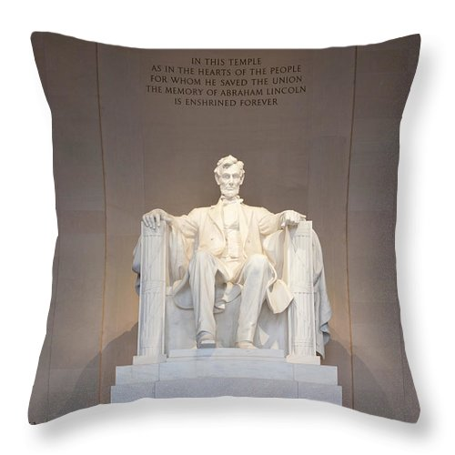 Clarence Holmes Throw Pillow featuring the photograph Lincoln Memorial I by Clarence Holmes