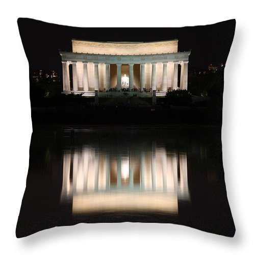 Washington Dc Throw Pillow featuring the photograph Lincoln Memorial by Nancy Ingersoll