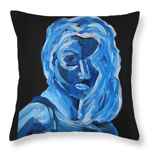 Portrait Throw Pillow featuring the painting Lindsay by Joshua Redman