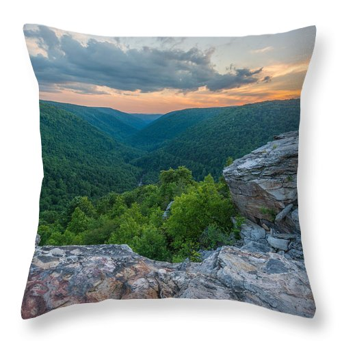 State Park Throw Pillow featuring the photograph Canaan Valley West Virgina Lindy Point Sunset by Rick Dunnuck
