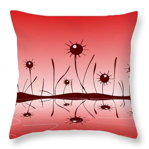 Reflection Throw Pillow featuring the digital art Line Of Defense by Anastasiya Malakhova