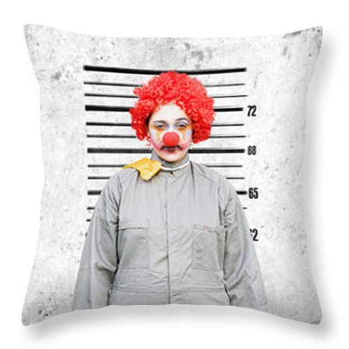 Clowns Throw Pillow featuring the photograph Line Up Of The Usual Suspects by Jorgo Photography - Wall Art Gallery