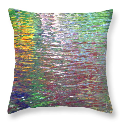 Water Art Throw Pillow featuring the photograph Linearized Light by Sybil Staples