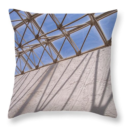 Beams Throw Pillow featuring the photograph Lines And Shadows IIi by Anna Villarreal Garbis