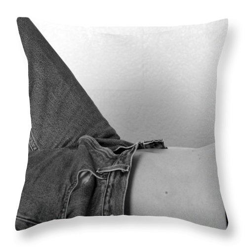 Woman Throw Pillow featuring the photograph Lines by Elizabeth Hart
