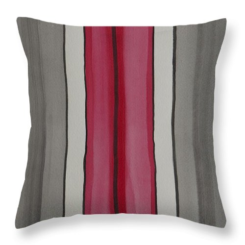 Red Throw Pillow featuring the painting Lines by Jacqueline Athmann