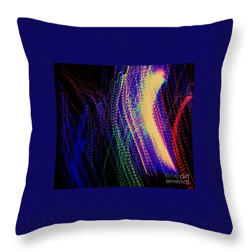 Throw Pillow featuring the digital art Lines by Lauren Powell