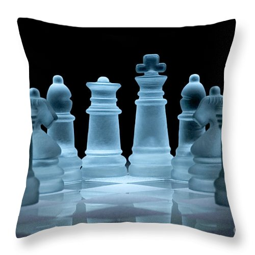 Chess Throw Pillow featuring the photograph Lines Of Defence by Ann Garrett