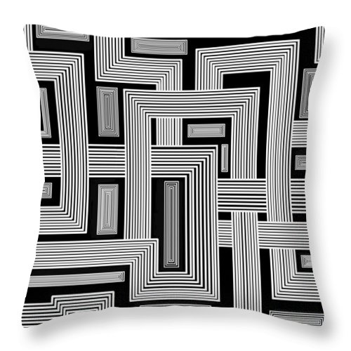 Squares Throw Pillow featuring the digital art Links Too by Christopher Rowlands