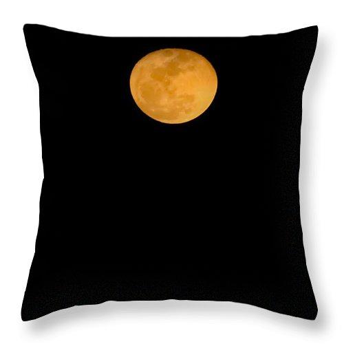Lunar Throw Pillow featuring the digital art Linten Moon by DigiArt Diaries by Vicky B Fuller