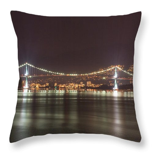 Lion Throw Pillow featuring the photograph Lions Gate Bridge 2 by Louise Magno