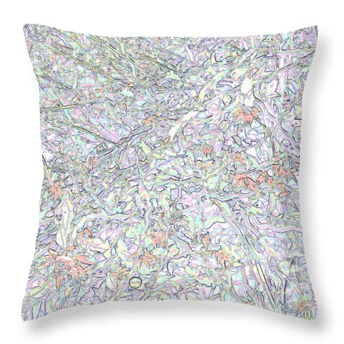 Square Throw Pillow featuring the digital art Liquid Biology by Eikoni Images